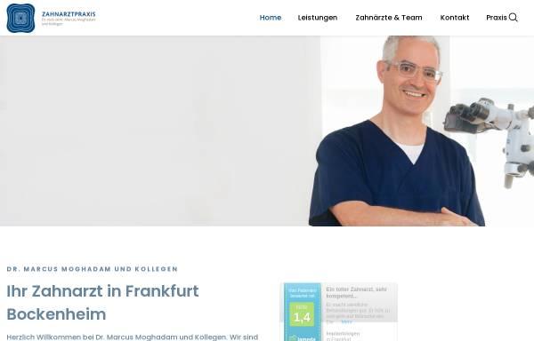 Vorschau von zahn-ffm.de, Zahnarztpraxis Dr. Marcus Moghadam und Kollegen