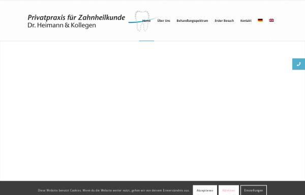 Vorschau von www.dent-docs.com, Dr. Johannes Heimann und Kollegen
