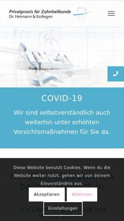 Vorschau der mobilen Webseite www.dent-docs.com, Dr. Johannes Heimann und Kollegen