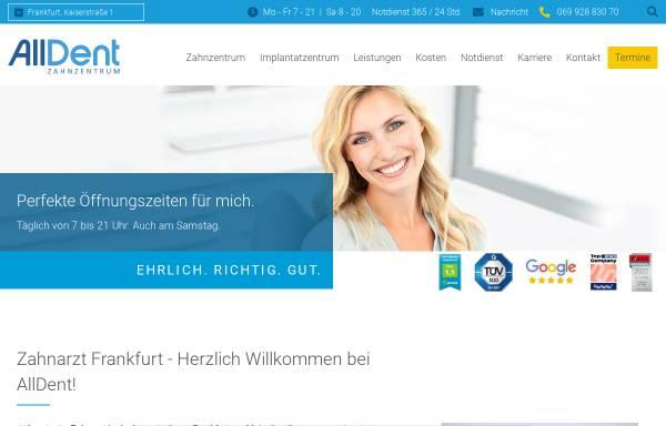 Vorschau von www.alldent-frankfurt.de, AllDent Zahnzentrum Hauptwache
