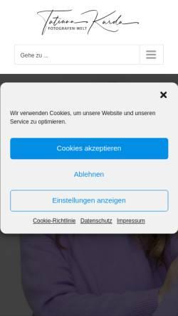 Vorschau der mobilen Webseite www.fotografen-welt.de, Business Portrait Fotografin Tatiana Kurda