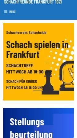 Vorschau der mobilen Webseite www.sfr-frankfurt.de, Schachfreunde Frankfurt 1921 e.V.