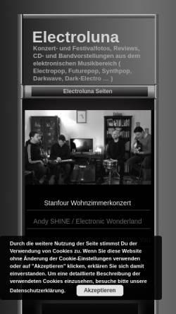 Vorschau der mobilen Webseite www.electroluna.de, Electroluna - Konzertfotos