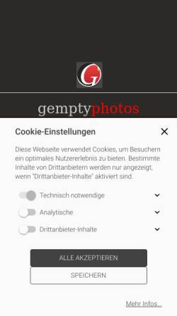 Vorschau der mobilen Webseite www.gempty.de, gempty art