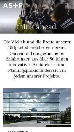 Vorschau der mobilen Webseite www.as-p.de, AS&P - Albert Speer & Partner GmbH