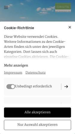 Vorschau der mobilen Webseite www.orivita.de, ORiViTA. Institut für Orientierungsberatung & Coaching