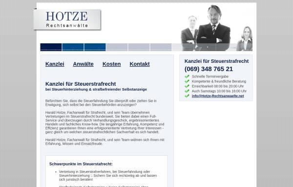 Vorschau von anwalt-steuerstrafrecht-frankfurt.de, Hotze Rechtsanwälte