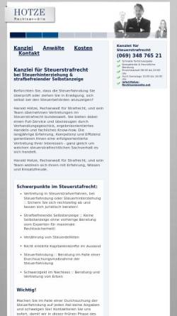 Vorschau der mobilen Webseite anwalt-steuerstrafrecht-frankfurt.de, Hotze Rechtsanwälte
