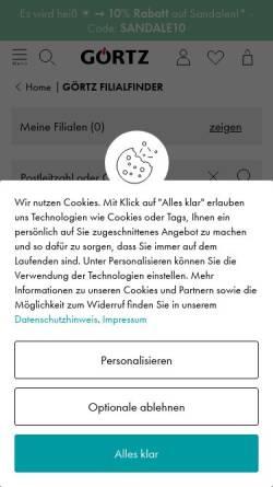 Vorschau der mobilen Webseite www.goertz.net, Görtz, Michael