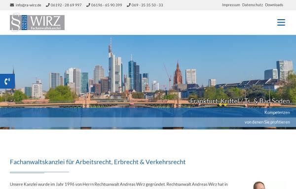 Vorschau von www.ra-wirz.de, Wirz Andreas