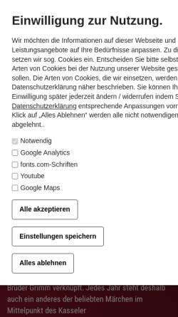 Vorschau der mobilen Webseite www.weihnachtsmarkt-kassel.de, Kassel, Märchenweihnachtsmarkt