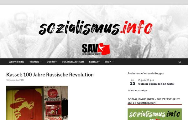 Vorschau von www.sozialismus.info, Sozialistische Alternative (SAV) Kassel