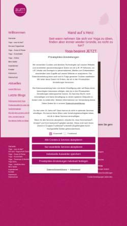 Vorschau der mobilen Webseite aum-yogaschule.de, AUM Yogaschule Wiesbaden