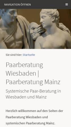 Vorschau der mobilen Webseite www.paarberatung-wiesbaden-mainz.de, Paarberatung Wiesbaden Mainz, Diana Weber