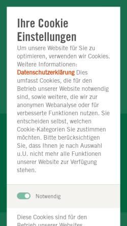 Vorschau der mobilen Webseite www.auromed.de, Therapiezentrum auromed