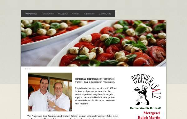 Vorschau von www.partyservice-pfeffer-salz.de, Partyservice Pfeffer und Salz Metzgerei Ralph Martin