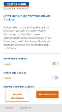 Vorschau der mobilen Webseite www.sparda-hessen.de, Sparda-Bank Hessen eG