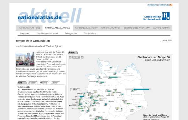 Vorschau von aktuell.nationalatlas.de, Nationalatlas aktuell