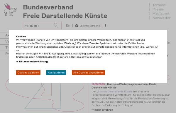 Vorschau von darstellende-kuenste.de, Bundesverband Freie Darstellende Künste e.V.
