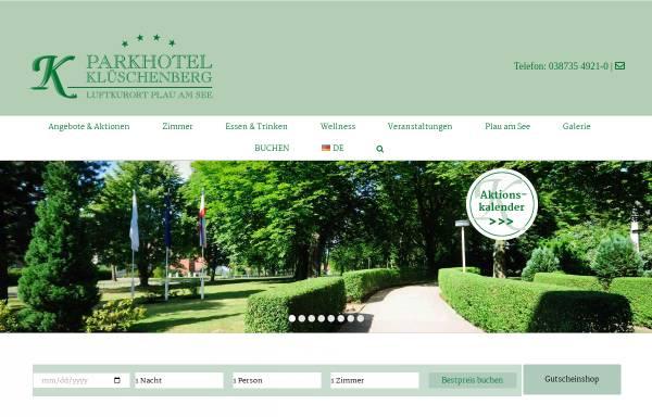 Vorschau von www.klueschenberg.de, Parkhotel Klüschenberg Plau am See