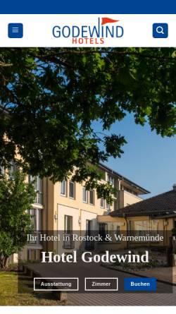 Vorschau der mobilen Webseite www.hotel-godewind.de, Hotel Godewind