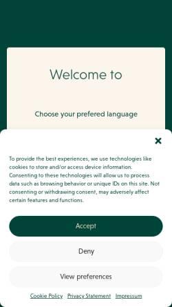 Vorschau der mobilen Webseite www.darguner.com, Darguner Brauerei