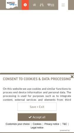 Vorschau der mobilen Webseite www.boltenhagen.com, Nordic Immobilien- und Appartementvermittlungsgesellschaft mbH