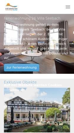 Vorschau der mobilen Webseite www.ostseebrise-ferienwohnungen.de, Ostseebrise Ferienwohnungen Boltenhagen