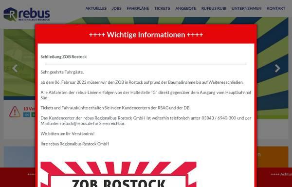 Vorschau von www.rebus.de, REBUS - Regionalbus Rostock GmbH