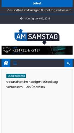 Vorschau der mobilen Webseite www.am-samstag.de, Stadtanzeiger am Samstag
