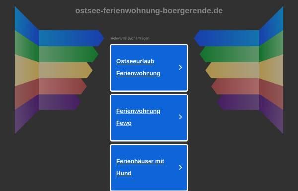 Vorschau von ostsee-ferienwohnung-boergerende.de, Ostsee-Ferienwohnung-Boergerende