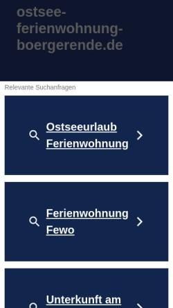 Vorschau der mobilen Webseite ostsee-ferienwohnung-boergerende.de, Ostsee-Ferienwohnung-Boergerende