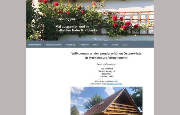 Vorschau von www.blockhaus-niex.de, Ferien-Blockhaus in Niex