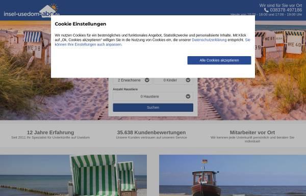 Vorschau von www.insel-usedom-abc.de, Insel-usedom-abc.de, Ferienwohnungen auf der Insel Useom