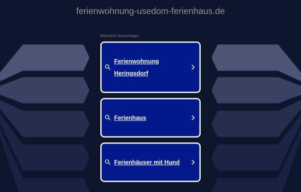 Vorschau von www.ferienwohnung-usedom-ferienhaus.de, Urlaubsdomizile Insel Usedom; Inh.: C. Rose