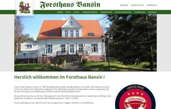 Vorschau von www.forsthaus-bansin.de, Hotel Forsthaus Langenberg