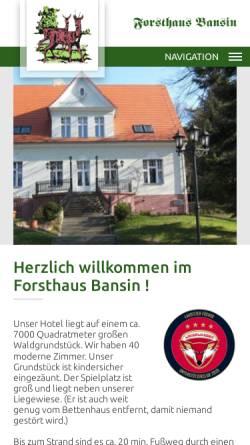 Vorschau der mobilen Webseite www.forsthaus-bansin.de, Hotel Forsthaus Langenberg