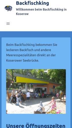 Vorschau der mobilen Webseite www.backfischking.de, Backfischking