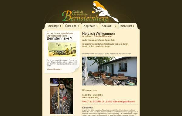 Vorschau von www.bernsteinhexe.de, Café & Gaststätte Bernsteinhexe