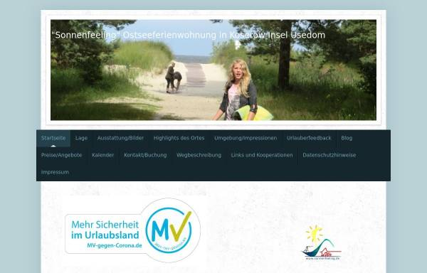 Vorschau von www.sonnenfeeling.de, Ferienwohnung Dietz