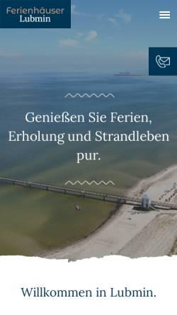 Vorschau der mobilen Webseite www.lubmin-urlaub.de, Ferienhaus Fleischer