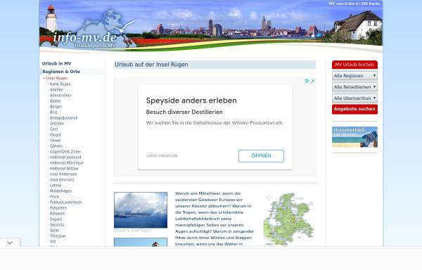 Vorschau von www.info-mv.de, Rügen-Informationen bei info-mv.de; Inh.: Jan Kästner
