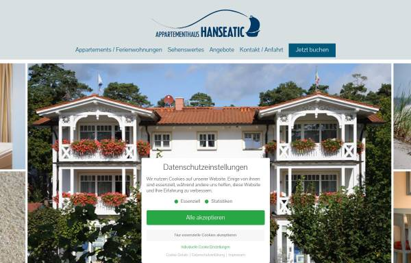 Vorschau von ostseeinsel-ruegen.de, Appartementhaus Hanseatic