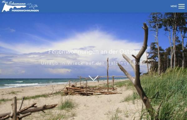 Vorschau von ferienwohnungen-an-der-ostsee.com, Ferienwohnung in Wieck auf dem Darß an der Ostsee