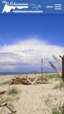 Vorschau der mobilen Webseite ferienwohnungen-an-der-ostsee.com, Ferienwohnung in Wieck auf dem Darß an der Ostsee