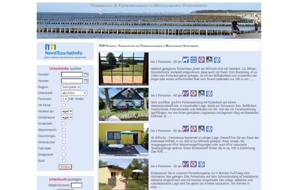 Vorschau von gomv.de, NordTouristInfo