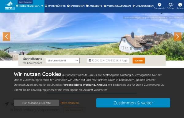 Vorschau von mv-tourism.de, mv-tourism.de - Internetagentur Alexander Sieg