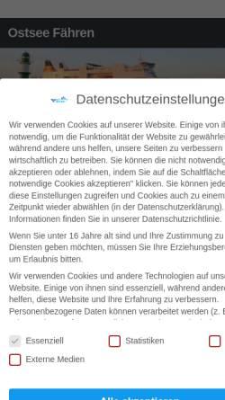Vorschau der mobilen Webseite ostseefaehren.com, Michael Wodetzki