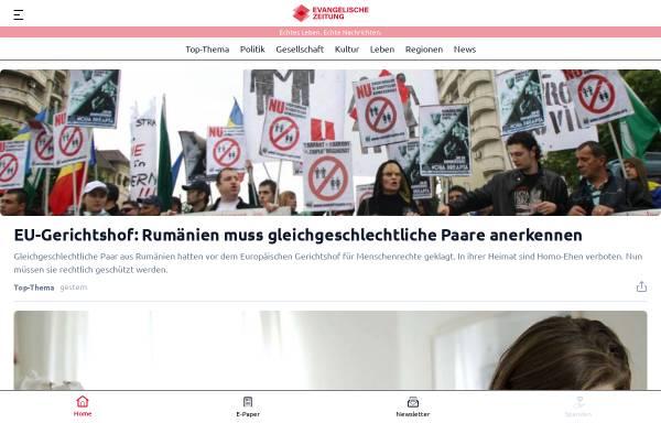 Vorschau von www.evangelische-zeitung.de, Evangelische Zeitung