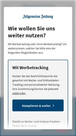 Vorschau der mobilen Webseite www.allgemeine-zeitung.de, Allgemeine Zeitung